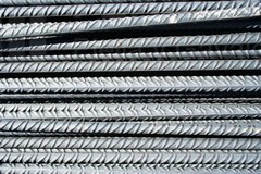 Corrugated steel bars and concrete steels