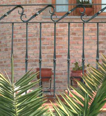 Ornamental wrought iron for terrace enclosures