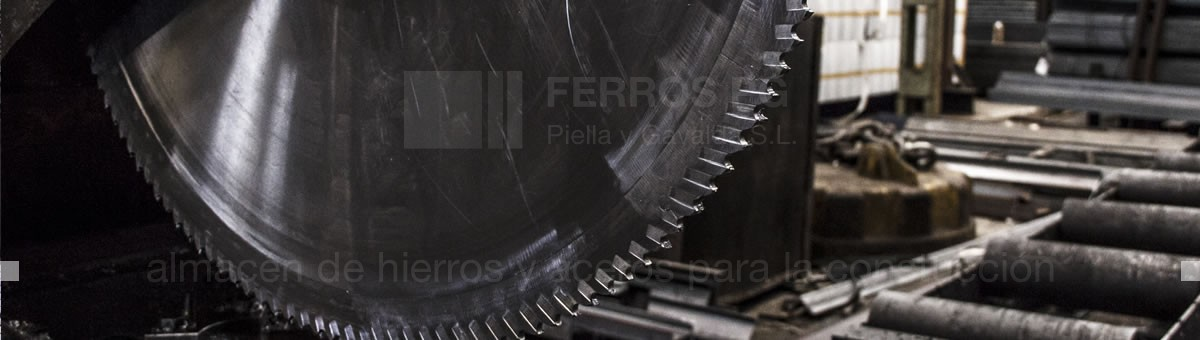And cutting services tailored for iron and steel · Ferros PG