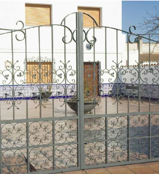 Wrought iron double doors for residential tickets