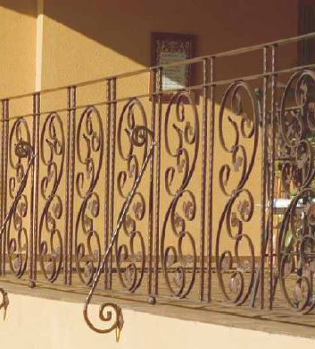 Wrought iron fences and railings for porches