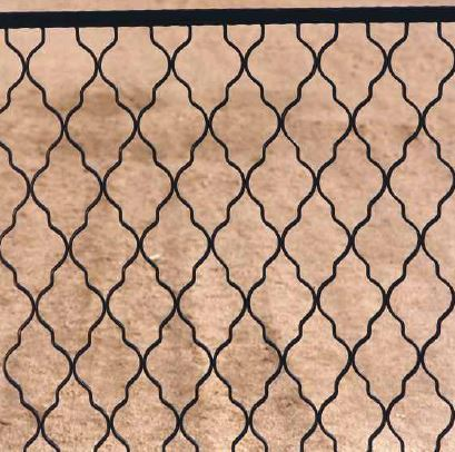 Wrought iron fencing and enclosures for parks, patios and terraces